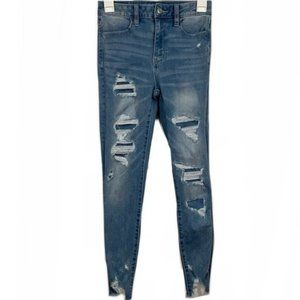 American Eagle High Rise Distressed Skinny Jeans
